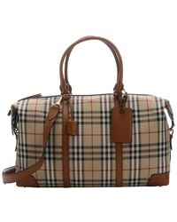 Burberry - Tan Horseferry Check Nylon Small 'kingswood' Travel Duffle - Lyst