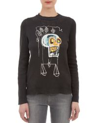 Lucien Pellat Finet Black Skull Sweater - Lyst