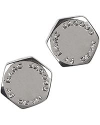 Marc By Marc Jacobs - Silver Tone Bolt Stud Earrings - Lyst