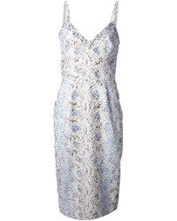Ermanno Scervino Snake Print Dress - Lyst