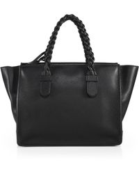 Valentino Braided-Handle Tote - Lyst