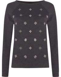 Linea Weekend Embellished Sweater - Lyst