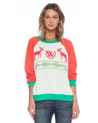 Wildfox Pastel Snow Babe Sweater - Lyst