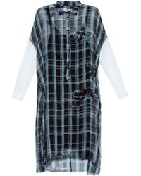 Raquel Allegra Equestrian Check-Print Silk-Chiffon Dress - Lyst
