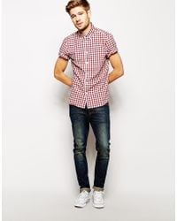 Jack Wills - Gingham Shirt with Dobby in Short Sleeves - Lyst