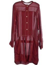 Etoile Isabel Marant Short Dress red - Lyst