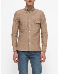 Rogue Territory Jumper Shirt Brown Chambray - Lyst