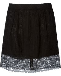Marc Jacobs Cut Out Embroidered Skirt - Lyst