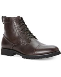Calvin Klein Levin Cap-toe Boots - Lyst