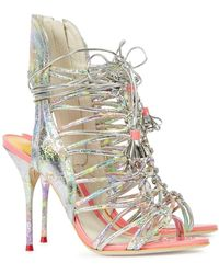 Sophia Webster - Lacey Metallic Leather Sandals - Lyst