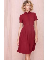 Nasty Gal Red Cecilia Dress - Lyst