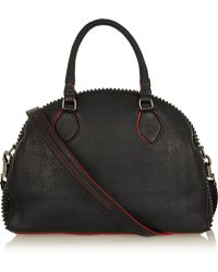 Christian Louboutin Panettone Large Spiked Texturedleather Tote - Lyst
