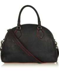 Christian Louboutin Panettone Large Spiked Textured Leather Tote - Lyst