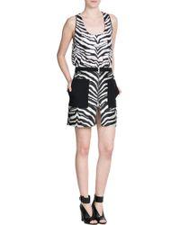 Emanuel Ungaro Zebra Print Mini Skirt - Lyst