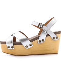 Flogg Piper Wedge Sandals - Lyst