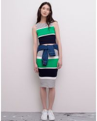 Pull&Bear Two-Tone Striped Skirt - Lyst