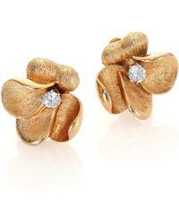 House of Lavande | Vintage Francois Floral Clip-on Stud Earrings | Lyst