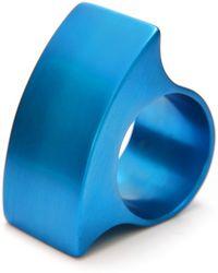 Filip Vanas - Tectonics Delta Ring Turquoise - Lyst