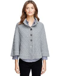 Brooks Brothers Merino Wool Button-Front Cape - Lyst