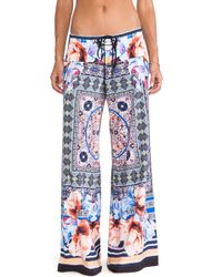 Clover Canyon - Byzantine Scarf Wide Leg Pant - Lyst