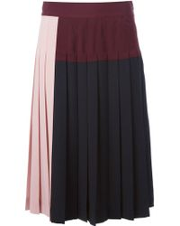 DKNY Pleated Skirt - Lyst