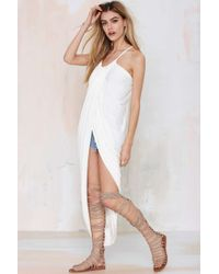 Nasty Gal Madison Square Athena Wrap Maxi Dress - Lyst