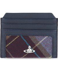 Vivienne Westwood Tartan Card Holder - Lyst