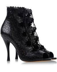 Tabitha Simmons Ankle Boots black - Lyst