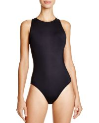 Carmen Marc Valvo - High-neck One Piece Swimsuit - Lyst