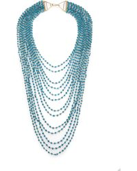 Iam By Ileana Makri - Turquoise Bead Draped Multi-strand Necklace - Lyst