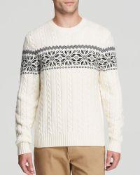 Brooks Brothers Merino Snowflake Sweater - Lyst