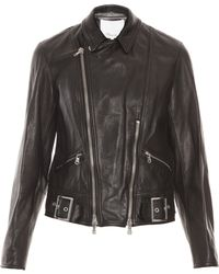3.1 Phillip Lim Sculpted Leather Jacket - Lyst