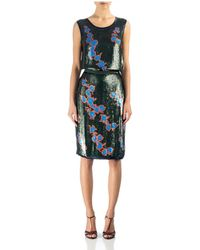 Cynthia Rowley Floral Sequin Skirt - Lyst