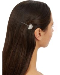 Ben-Amun | Silver Plated Swarovski Crystal Embellished Hair Pin | Lyst