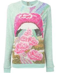 Manish Arora Sequin Embellished Sweater - Lyst