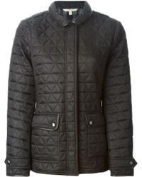 Burberry Brit Leather Trimmed Quilted Jacket - Lyst