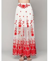Free People English Garden Maxi Skirt - Lyst