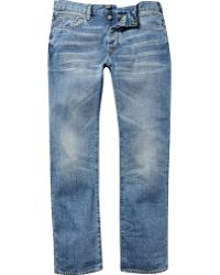 River Island Light Wash Spencer Straight Jeans - Lyst