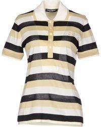 Dolce & Gabbana Yellow Polo Shirt - Lyst