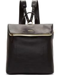McQ by Alexander McQueen Black Pebbled Leather Backpack - Lyst