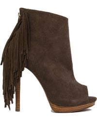 Naughty Monkey - Girl's Best Fringe Booties - Taupe - Lyst