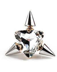 Noir Jewelry Triple Spike Highlight Ring - Lyst