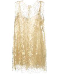 Dolce & Gabbana Floral Lace Dress - Lyst