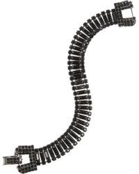 Tom Binns - Rhodium-Plated Swarovski Crystal Bracelet - Lyst