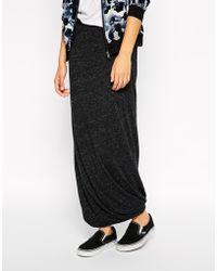 American Vintage Jersey Maxi Skirt - Lyst