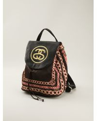 Stussy - Chain Printed Logo Backpack - Lyst