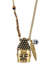 Tru. - Gold-tone Buddha Head Pendant Necklace - Lyst