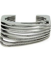 Vita Fede - Futturo Segmented Gunmetal Crystal Cuff Bracelet - Lyst
