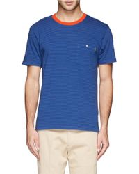 Paul Smith Contrast Neckline Stripe T-Shirt - Lyst