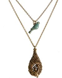 Lucky Brand - Gold-Tone Double Layer Pendant Necklace - Lyst